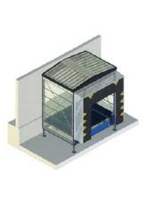Φυσούνα προσαρμοσμένη στο Dock-house, την ειδική προέκταση που προορίζεται να σκεπάζει την εξωτερικά ευρισκόμενη ράμπα φόρτωσης. Στην περίπτωση αυτή δεν δεσμεύεται ο πολύτιμος χώρος του εργοστασίου για την τοποθέτηση της ράμπας.