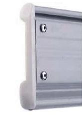 Ειδικό κάλυμμα από πολυαμίδιο στις άκρες του προφίλ, που μειώνει την τριβή και τον θόρυβο.