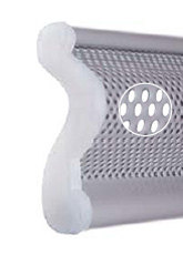 Special polyamide cap at profile ends that reduces friction and noise.