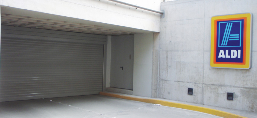 GA50 PERFORATED Roller shutter made of extruded aluminum thickness 1,5mm.