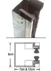 Οδηγός από γαλβανιζέ χάλυβα πάχους 1,5 - 2mm σε σχήμα