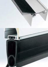 Special top and bottom rubber seals Special, single and triple adhesion rubber strips made of elastomer PVC are provided at the top and bottom of the garage door respectively, In order to protect the garage space against the wind, dust and water.